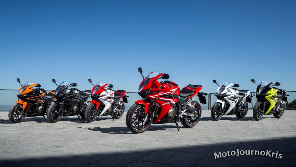 Honda's LAMS range includes the CBR500R