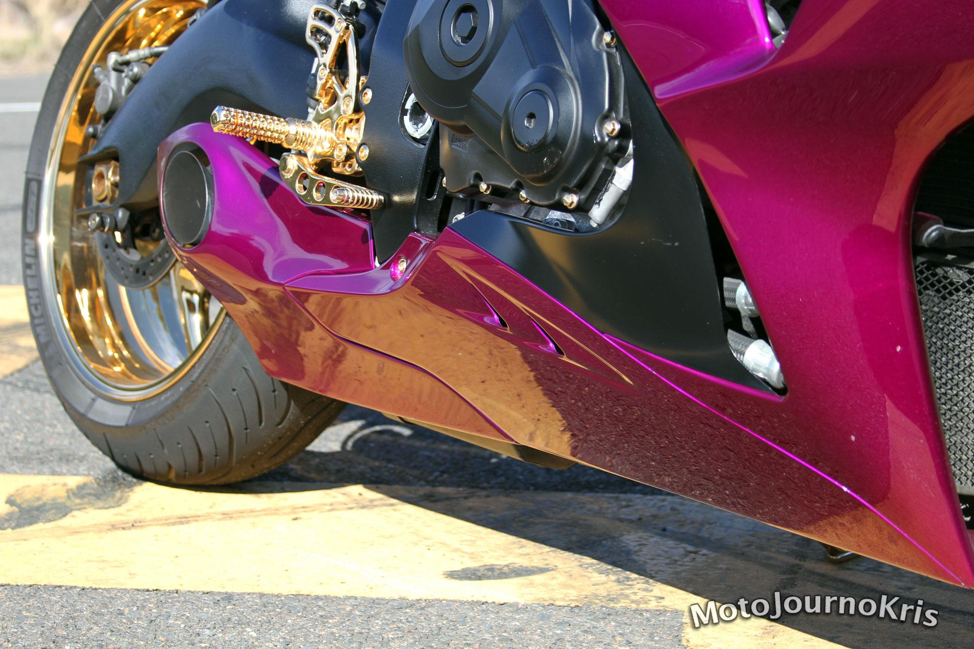 Custom Suzuki GSX-R1000 - Taylormade Exhaust - Purple
