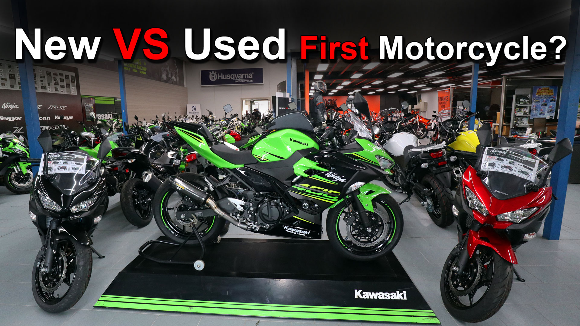 Buying your first motorcycle - New or Used?