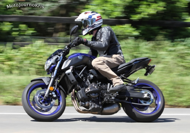 Yamaha MT-07 in action