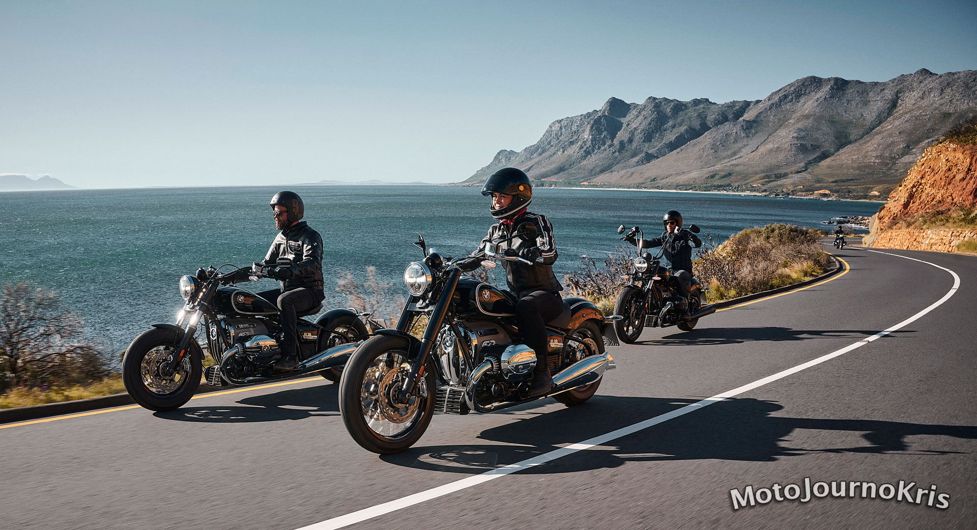 2020 BMW R 18 cruiser out on the open road by the coast