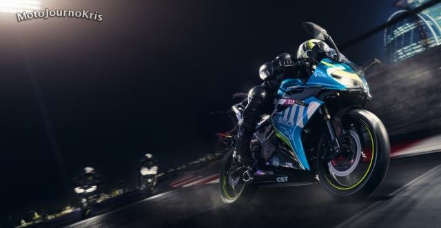 2020 CFMoto 300SR sportsbike in action