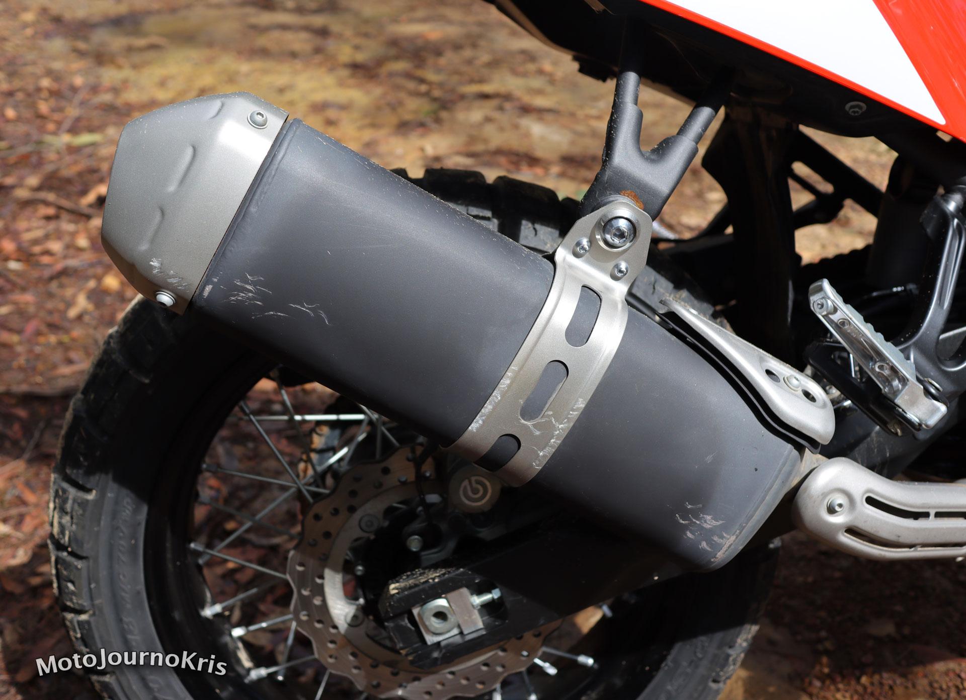 2020 Yamaha Tenere 700 stock exhaust