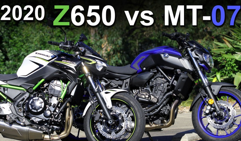 2020 Kawasaki Z650 vs Yamaha MT-07 Video Comparison
