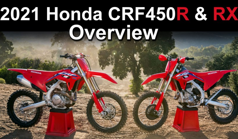 2021- Honda CRF450R CRF450RX Updates Video